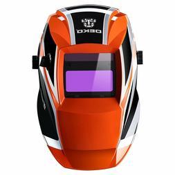 DEKO Solar Auto Darkening Welding Helmet Arc Tig Mig Mask Gr