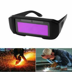 Solar Powered Auto Darkening Welding Helmet Eyes Welder Glas