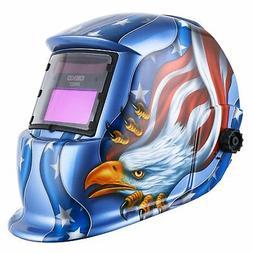 Solar Powered Welding Helmet Auto Darkening Hood with Adjust