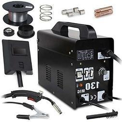 Super Deal Black Commercial MIG 130 AC Flux Core Wire Automa