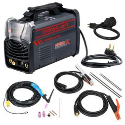 TIG-200DC, 200 Amp TIG Torch Stick ARC DC Welder 110/230V Du