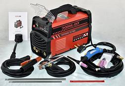TIG-200DC, 200 Amp TIG-Torch ARC Stick DC Welder 110/230V Du
