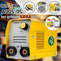 US 110V 200A Mini Electric Welding Machine IGBT DC Inverter