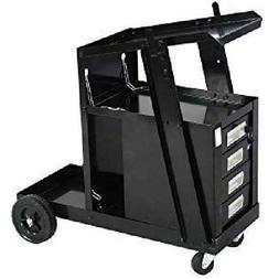 Goplus Welder Cart, MIG TIG ARC Welding Plasma Cutter Tank S