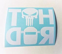 Welder Hood Punisher | 2 Pack | 3x3 inch White Vinyl Decal H