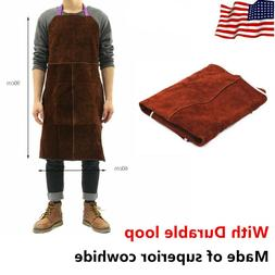 Welder Apron Welding Protective Gear Equipment Cowhide Leath