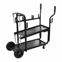 Welding Cart 350 lbs. Capacity Two-tier Shelf Welder Gas Cyl