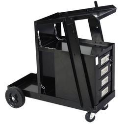 Welding Cart for MIG TIG Flux Welder Heavy Duty Swivel Wheel