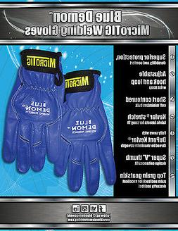 Welding Gloves Micro TIG Blue Demon free shipping size mediu