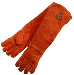 Welding Gloves, Burnt orange Y-Series 23-Inch Length Shoulde