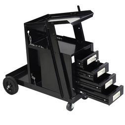 Welding Welder Cart MIG TIG ARC Plasma Cutter Tank Storage W