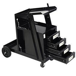 Goplus Welding Welder Cart MIG TIG ARC Plasma Cutter Tank St