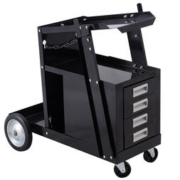 Welding Welder Cart Trolley Heavy Duty Workshop Organizer We