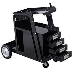 Goplus Welding Welder Cart Trolley Heavy Duty Workshop Organ