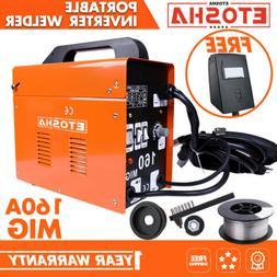 MIG 160A Welder Inverter Flux Core Wire Gasless AC ARC Metal
